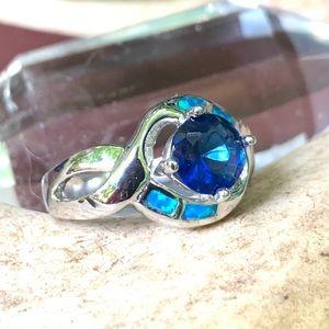 🌹NWT Zuni opal & sapphire quartz ring